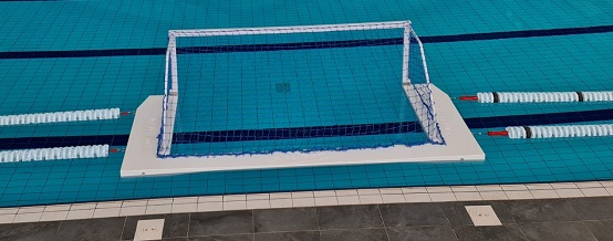 Floating Water Polo Match Goal