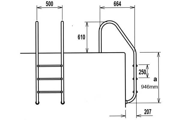 Stainless Steel Pool Steps